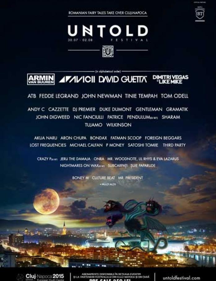 Untold Festival – 30 July – 2 August 2015, Cluj-Napoca